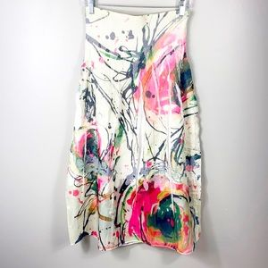Lapis Abstract Print convertible dress/skirt OS(L)